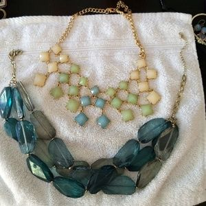 Jewelry - PRICE DROP! Lot of 2 bib necklaces for summer!